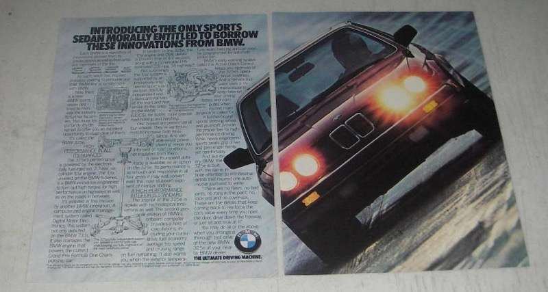 Primary image for 1984 BMW 325e Ad - Morally Entitled