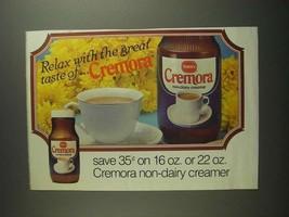 1984 Borden Cremora Non-Dairy Creamer Ad - Relax With - $14.99