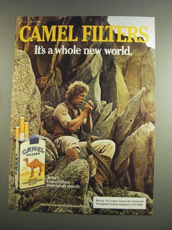 Primary image for 1984 Camel Filters Cigarettes Ad - Whole New World