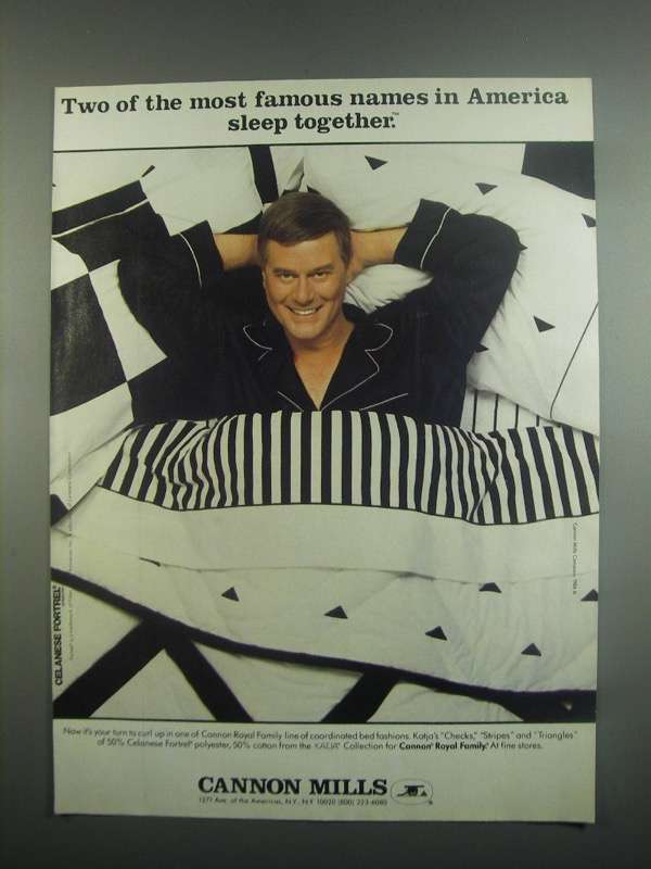 Primary image for 1984 Cannon Mills Ad - Larry Hagman