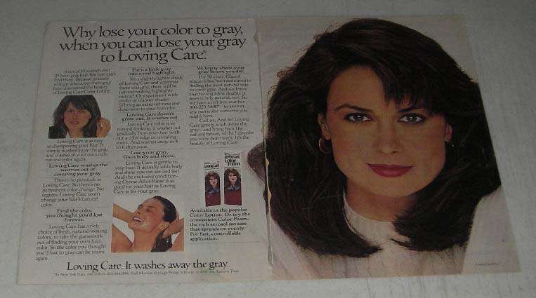 Primary image for 1984 Clairol Loving Care Color Lotion Ad