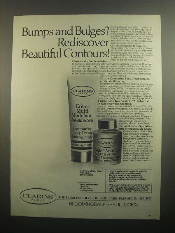 Primary image for 1984 Clarins Crme Multi Modelante & Huile Anti-Eau Ad