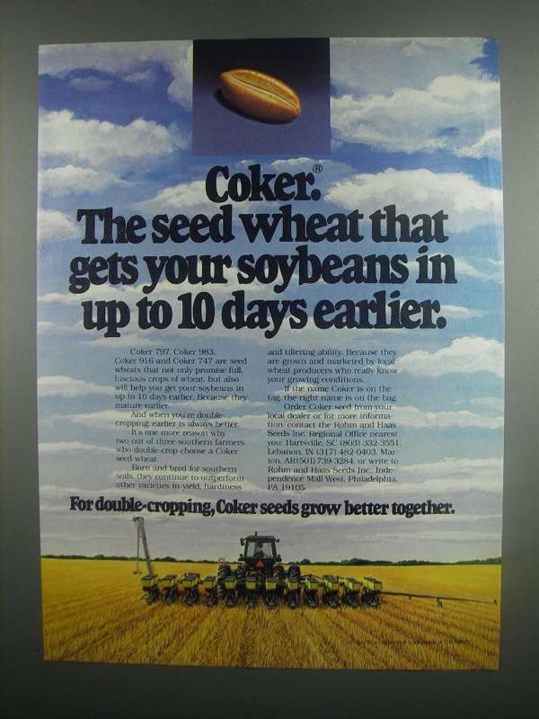Primary image for 1984 Coker 797, 983, 916 and 747 Wheat Ad