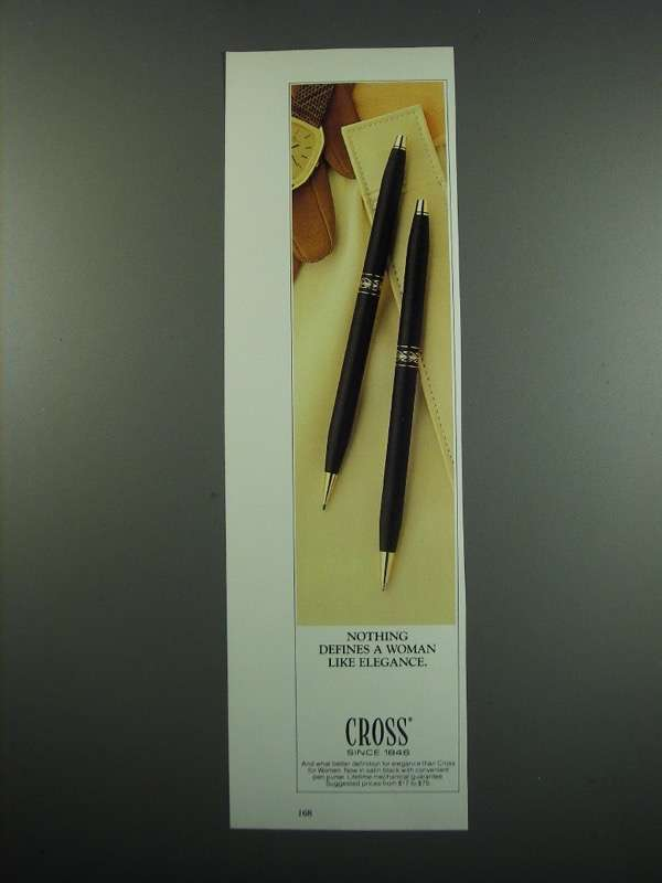 Primary image for 1984 Cross Pens Ad - Nothing Defines Like Elegance