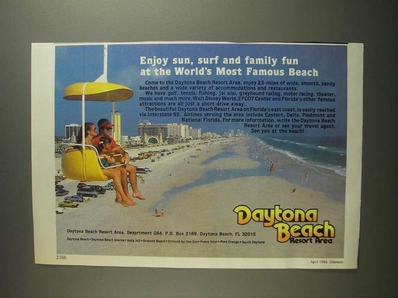 Primary image for 1984 Daytona Beach, Florida Ad - Enjoy Sun, Surf