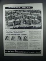 1954 Kelvinator Appliance Ad - Cadillac Apartments, NY - $14.99