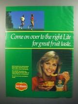 1984 Del Monte Lite Peaches Ad - Come On Over - $14.99