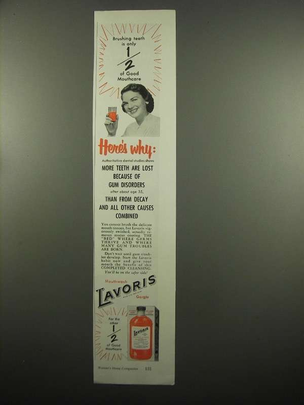Primary image for 1954 Lavoris Mouthwash Ad - Here's Why