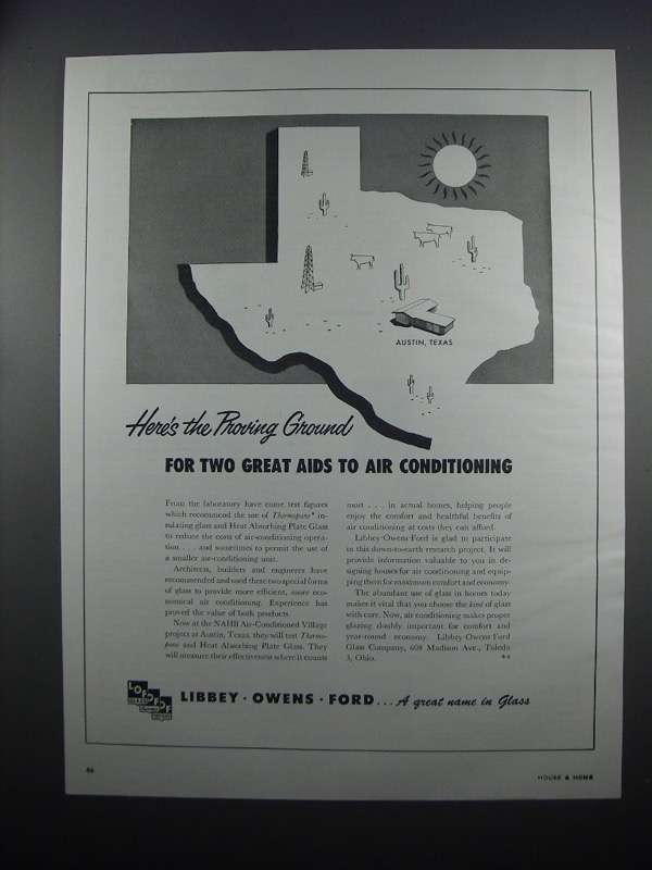 Primary image for 1954 Libbey-Owens-Ford Thermopane & Plate Glass Ad