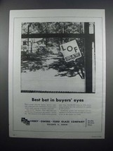 1954 Libbey-Owens-Ford Window Glass Ad - Best Bet - $14.99