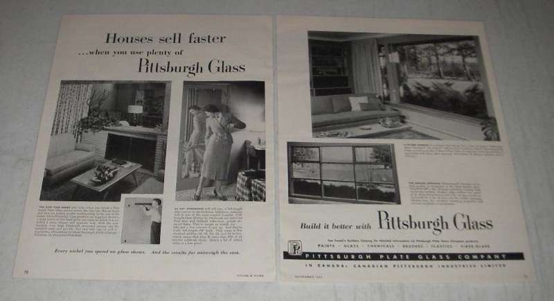 Primary image for 1954 Pittsburgh Plate Glass Ad - Mirror, Pennvernon