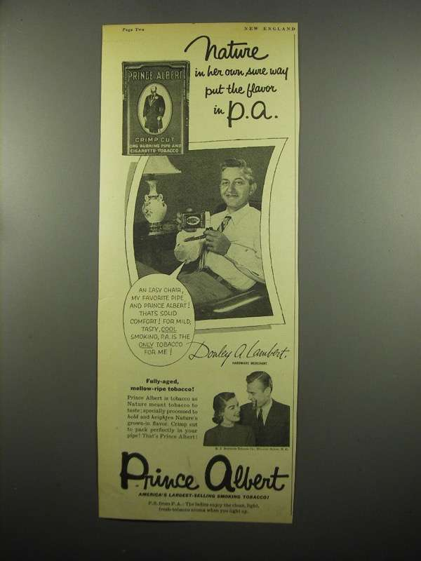 Primary image for 1954 Prince Albert Tobacco Ad - Nature in Her Own Way