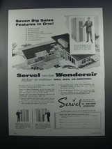 1954 Servel Wonderair Air Conditioner Ad - $14.99