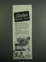 1954 Sexton Sherman Luxury Tea Ad - Quality Foods - $14.99