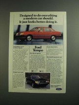 1984 Ford Tempo Ad - Everything a Car Should - $14.99
