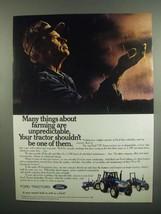 1984 Ford TW Series Tractors Ad - Farming Unpredictable - $14.99