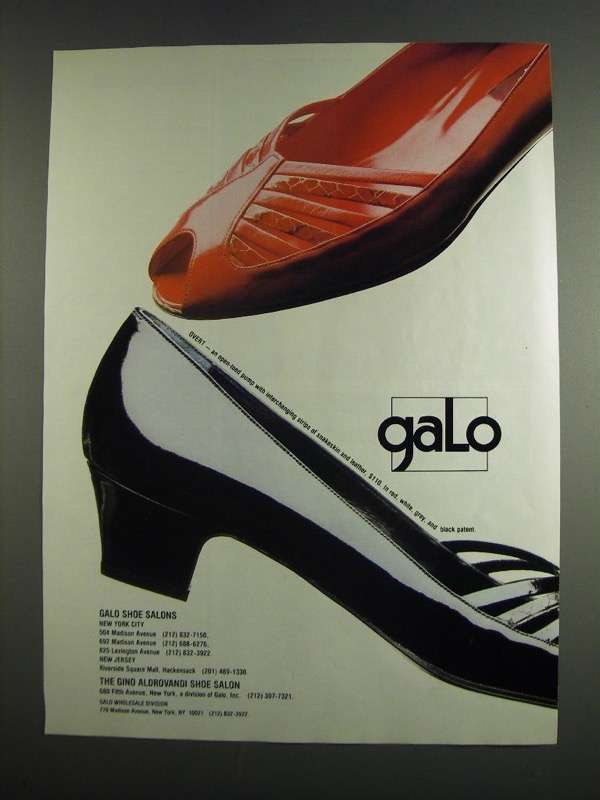 Primary image for 1984 Galo Overt Shoe Ad