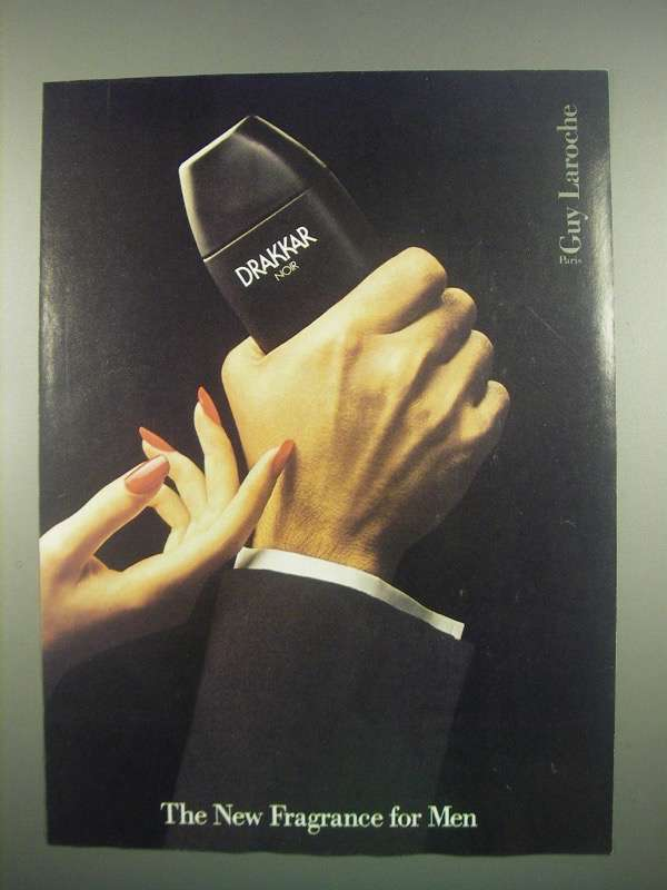 Primary image for 1984 Guy Laroche Drakkar Noir Cologne Ad