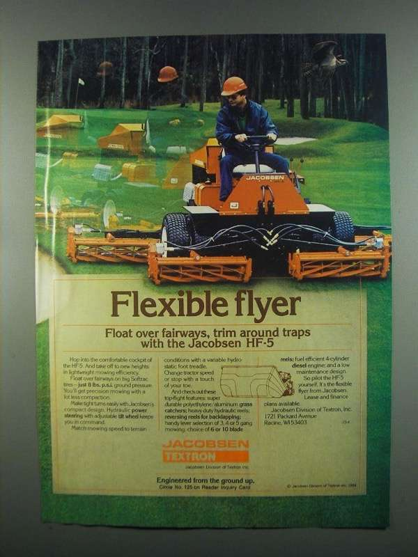 Primary image for 1984 Jacobsen Textron HF-5 Lawn Mower Ad