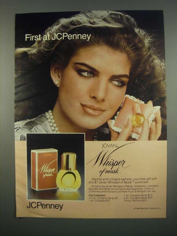 Primary image for 1984 JCPenney Jovan Whisper of Musk Perfume Ad