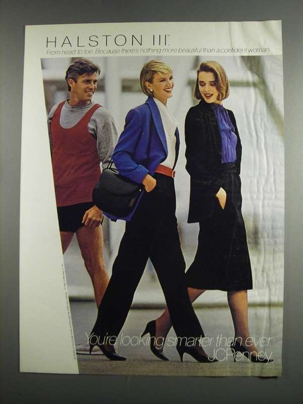 Primary image for 1984 JCPenney Halston III Fashion Ad - Head to Toe
