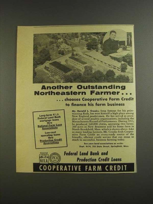 Primary image for 1955 Cooperative Farm Credit Ad - Outstanding