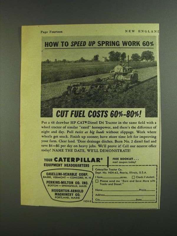 Primary image for 1955 Caterpillar HP CAT Diesel D4 Tractor Ad