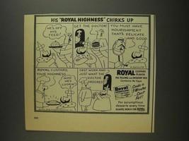 1955 Royal Custard Flavor Pie Filling Ad - O. Soglow - $14.99
