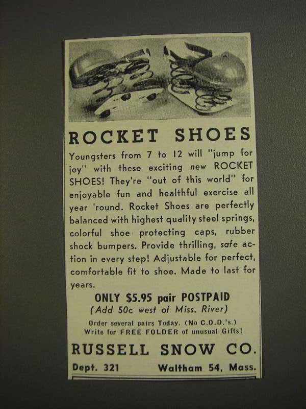 Primary image for 1955 Russell Snow Co. Rocket Shoes Ad