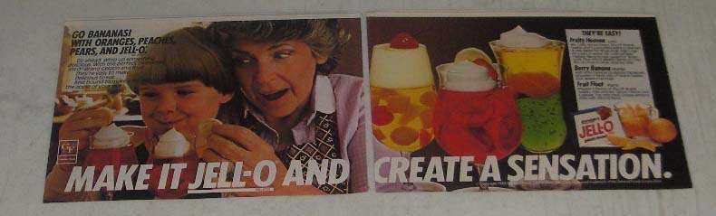 Primary image for 1984 Jell-O Gelatin Ad - Create a Sensation