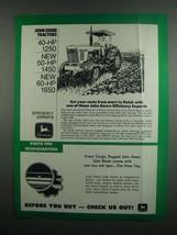 1984 John Deere 1250, 1450 & 1650 Tractors Ad - $14.99