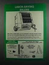 1984 John Deere 430 and 550 Round Balers Ad - $14.99