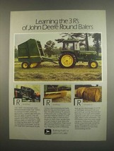 1984 John Deere 430 and 530 Balers Ad - The 3 R's Of - $14.99