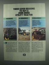 1984 John Deere Utility Tractors Ad - Good Reasons - $14.99