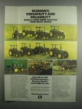 1984 John Deere Tractors Ad - 950 1050 1250 1450 1650 - $14.99