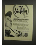 1955 Union Pacific Railroad Ad - Ski Sun Valley - $14.99
