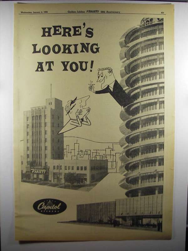 Primary image for 1956 Capitol Records Ad - Here's Looking at You!
