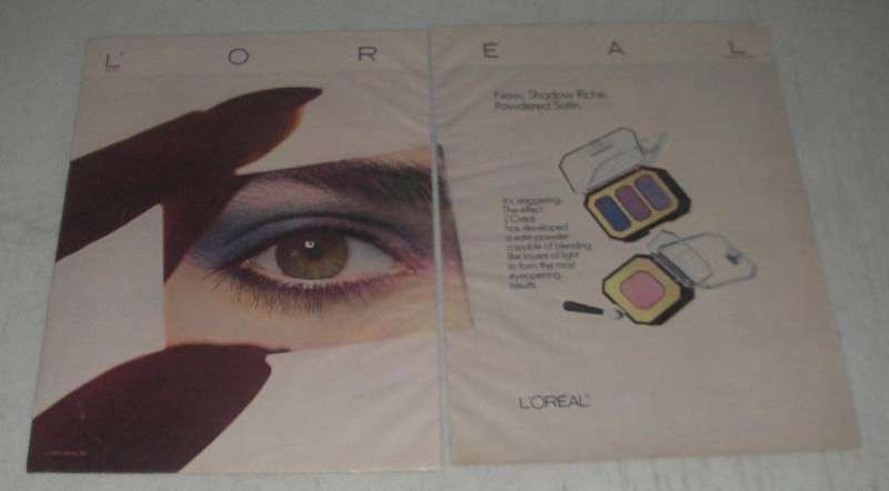 Primary image for 1984 L'oreal Makeup Ad - Shadow Riche