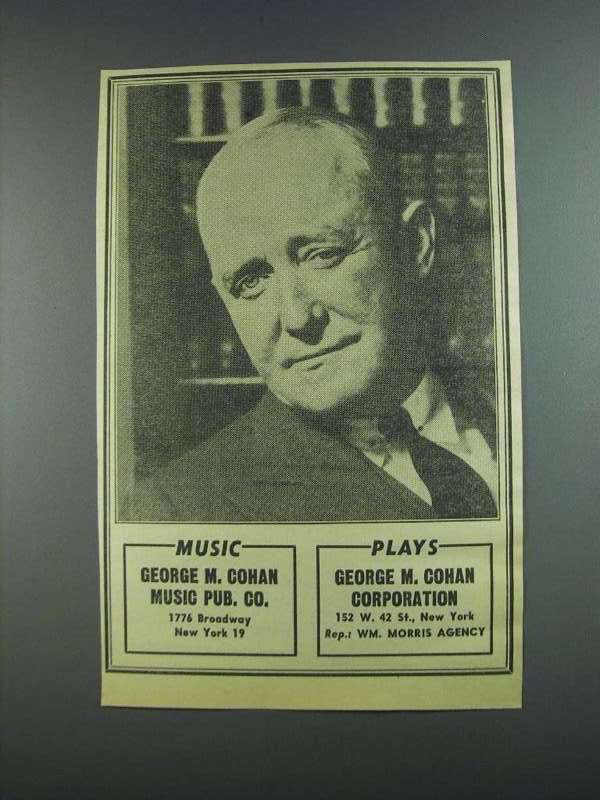 Primary image for 1956 George M. Cohan Ad - Music Plays