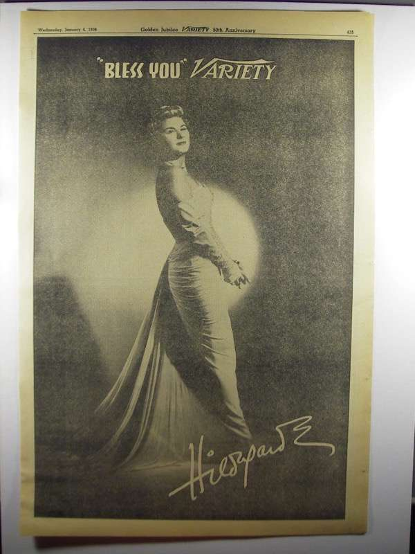Primary image for 1956 Hildegarde Ad - Bless You Variety