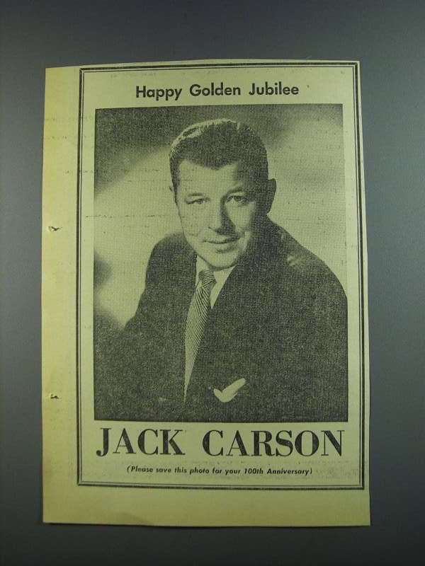Primary image for 1956 Jack Carson Ad - Variety 50th Anniversary