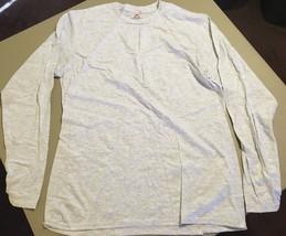 Men's Long Sleeve Shirt Nano L/G Gray Great for jogging - $5.87