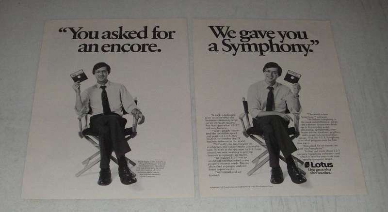 Primary image for 1984 Lotus Symphony Computer Software Ad - You Asked