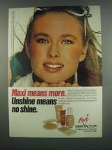 1984 Max Factor Unshine Oil Free Make-up Collection Ad - $14.99