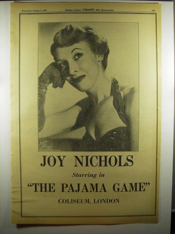 Primary image for 1956 The Pajama Game Musical Ad - Joy Nichols