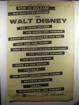 1956 Walt Disney Movies Ad - Now in Release - $14.99