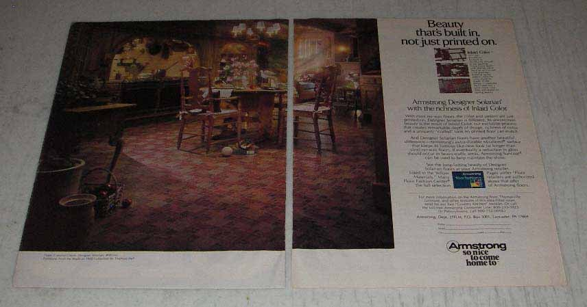 Primary image for 1983 Armstrong Colonial Designer Solarian Floor Ad