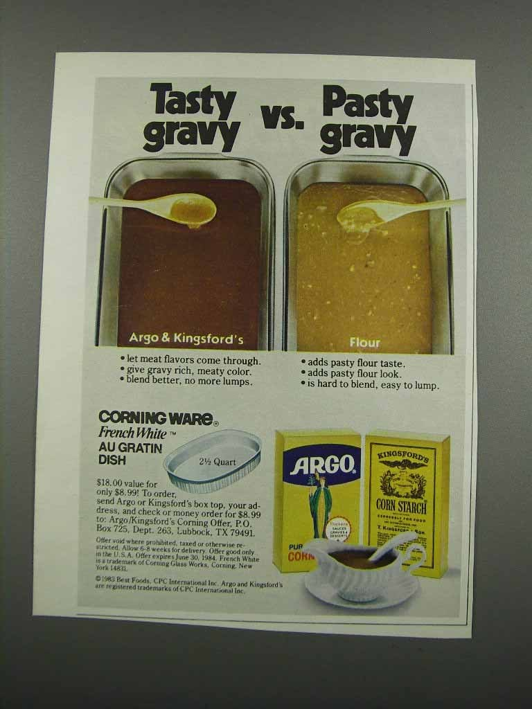 Primary image for 1983 Argo & Kingsford's Corn Starch Ad - Tasty