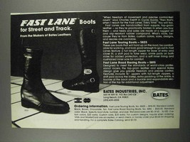 1983 Bates Fast Lane Touring Boots & Racing Boots Ad - $14.99