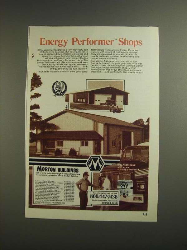 Primary image for 1984 Morton Buildings Ad - Energy Performer Shops